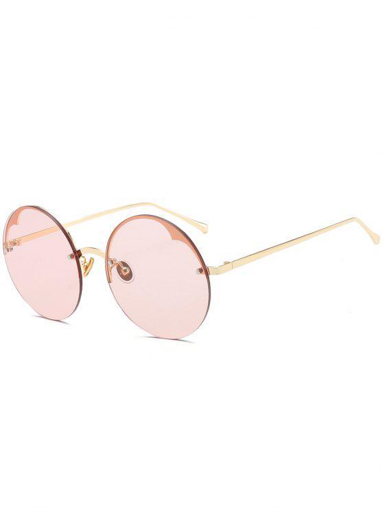 8feeec8310 34% OFF] 2019 Gafas De Sol Sin Montura Media Redonda En Rosa Claro ...