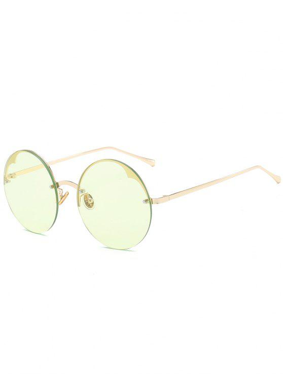 Runde halb-randlose Sonnenbrille - LIGHT GREEN