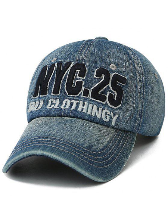 حنين إليمنتس، رقم، تطريز، قبعة البيسبول - أزرق