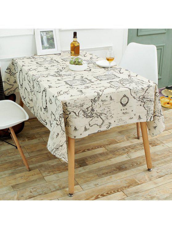 World map print linen table cloth for dining gray kitchen table fashion world map print linen table cloth for dining gray w55 inch l71 inch gumiabroncs Image collections