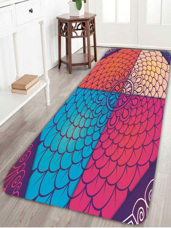 البوهيمي ماندالا الأزهار طباعة حمام البساط - ملون W24 بوصة * L71 بوصة