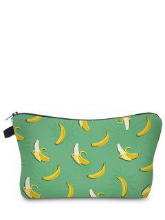 Fruit Print Makeup Bag - Green