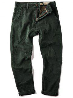 Mens Carrot Fit Ninth Jeans - Green 32