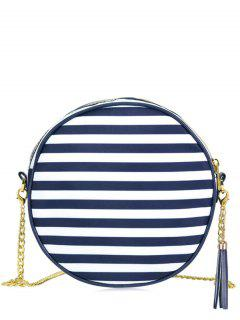 Chain Tassel Canteen Cross Body Bag - Blue