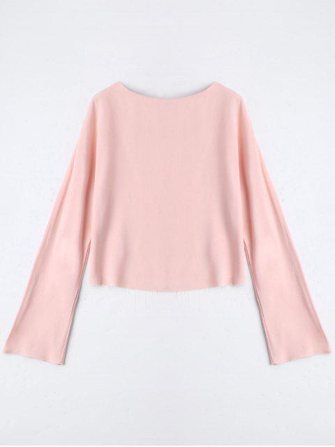 fancy Long Sleeve High Low T-shirt - PINK S Mobile