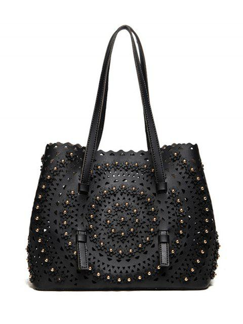sale Cut Out Rivet Shoulder Bag -   Mobile