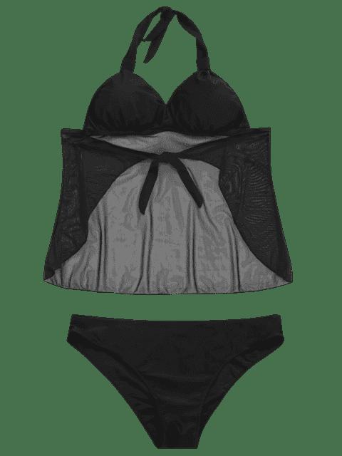 Maillot de bain taille maillot Tankini - Noir XL Mobile