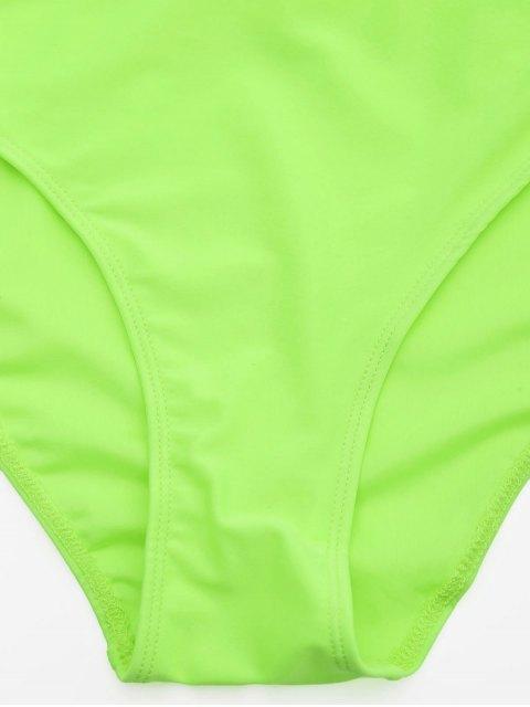 hot Lace Plus Size Tankini Bathing Suit - NEON GREEN 5XL Mobile