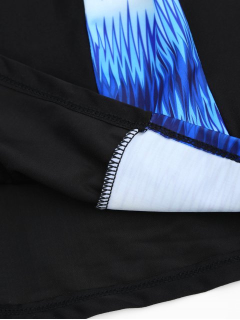 affordable Padded Bandeau Tankini Bathing Suit - BLUE 3XL Mobile
