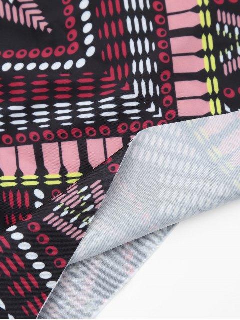 Combinaison de bain Tribal Print Padded Bandeau Tankini - Multicouleur 3XL Mobile