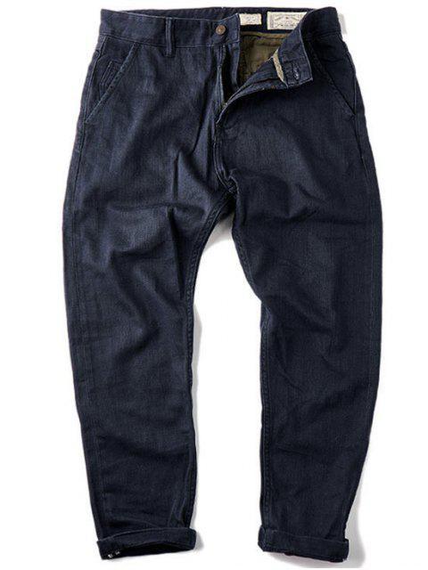 Pantalones vaqueros cónicos del ajuste delgado delgado de los hombres - Azul 36 Mobile