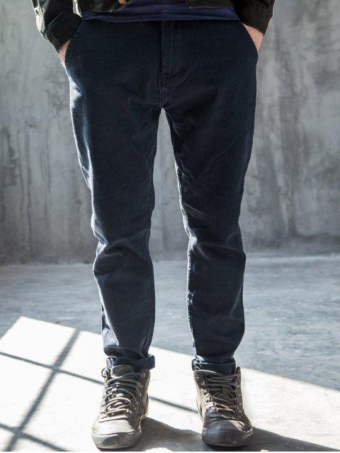 Hommes Slim Fit Tapered Ninth Jeans - Bleu 34 Mobile