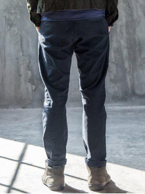 Hommes Slim Fit Tapered Ninth Jeans - Bleu 30 Mobile