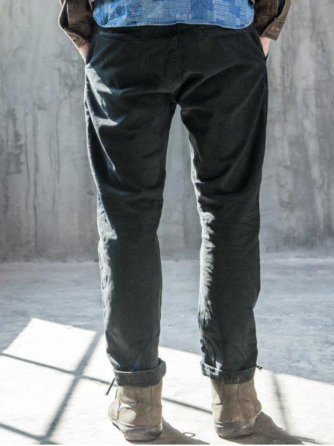 lady Mens Slim Fit Tapered Ninth Jeans - DEEP GRAY 36 Mobile