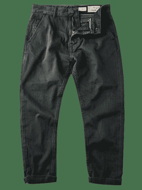 Hommes Slim Fit Tapered Ninth Jeans - Gris Foncé 36 Mobile