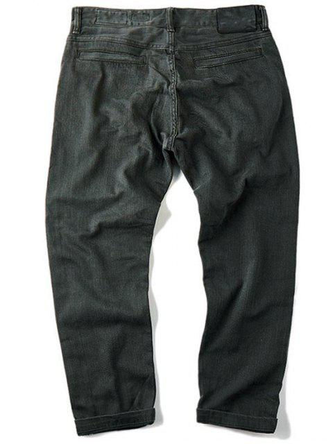 online Mens Slim Fit Tapered Ninth Jeans - DEEP GRAY 32 Mobile