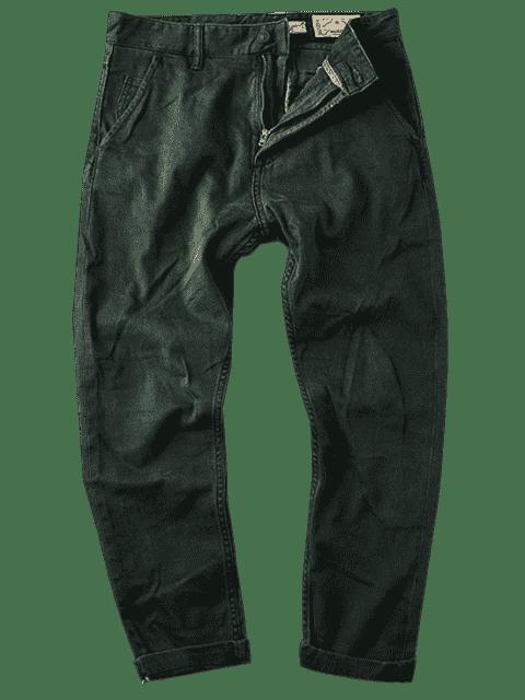 Hommes Carotte Fit Ninth Jeans - Vert 34 Mobile