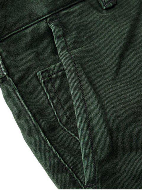 Hommes Carotte Fit Ninth Jeans - Vert 32 Mobile