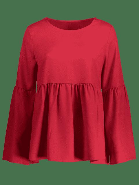T-shirt à manches évasées - Rouge vineux  L Mobile