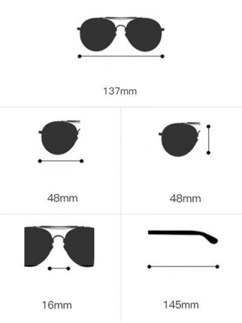 unique Round Two-tone Splicing Hollow Out Leg Sunglasses - BLACK  Mobile