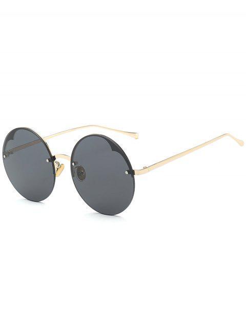 Runde halb-randlose Sonnenbrille - Schwarz  Mobile