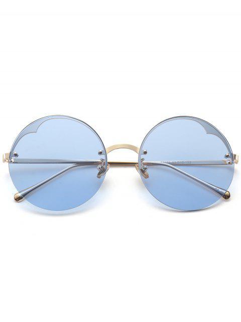 online Round Semi-rimless Sunglasses - LIGHT BLUE  Mobile