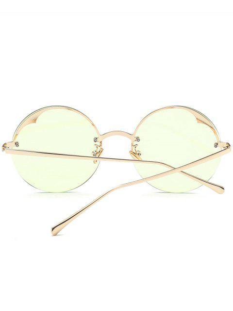 hot Round Semi-rimless Sunglasses - LIGHT GREEN  Mobile
