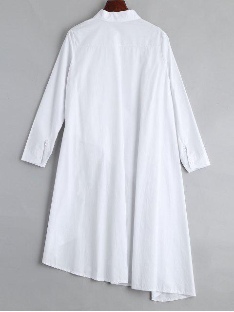 Blouse Asymétrique Longue Boutonnée - Blanc TAILLE MOYENNE Mobile