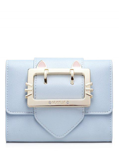 shop Buckle Strap Trifold Small Wallet - LIGHT BLUE  Mobile