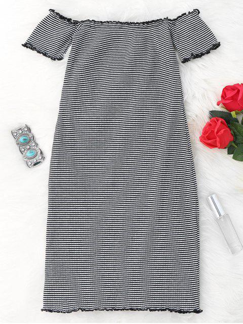 Robe à encolure dégagée - Blanc et Noir TAILLE MOYENNE Mobile
