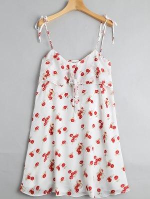 Robe Miniature Découpée à La Cerise - Multicouleur L