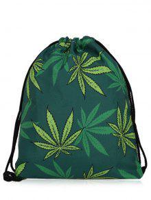 حقيبة نايلون طباعة مشد - الأخضر العميق