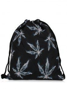 حقيبة نايلون طباعة مشد - أسود رمادي