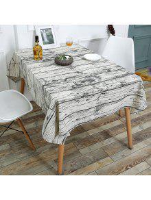 الخشب الحبوب الطباعة الكتان الجدول القماش - خشب W55 بوصة * L40 بوصة