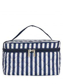 Quilted Top Handle Cosmetic Bag - Blue