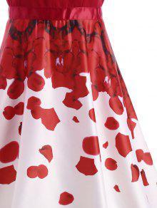 23% OFF  2019 Petal Print Party Semi Formal Dress In RED M  c93cd06e0
