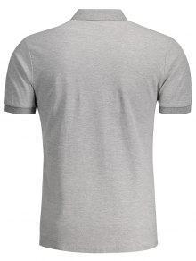 Cuello Manga L Tee Corta Patr 2xl Camisa Gris 243;n Fx1qfp