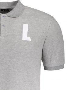 Gris L Corta Patr 2xl Camisa Manga Tee Cuello 243;n Bw0g57q