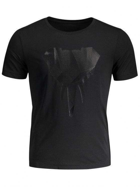 Crewneck Graphic Mens Jersey Tee - Preto XL