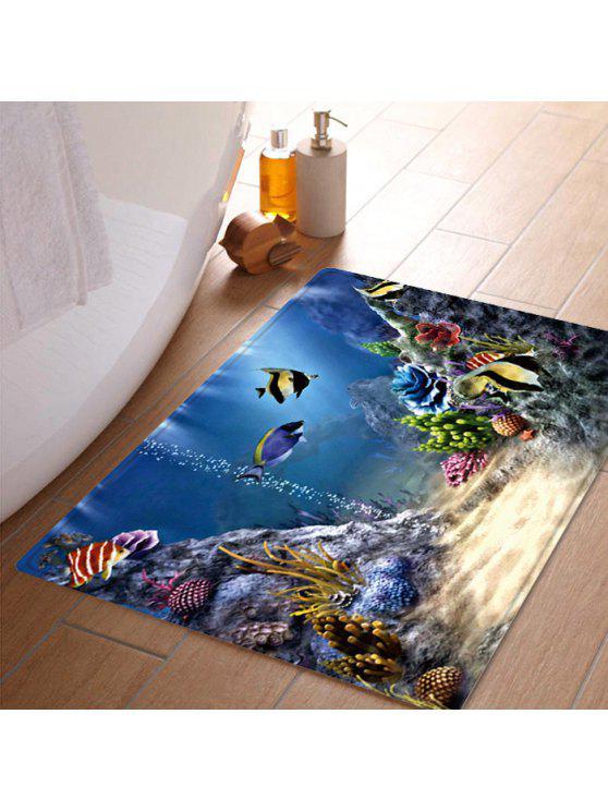 تحت الماء العالم نمط المياه امتصاص البساط منطقة - Colormix W20 بوصة * L31.5 بوصة