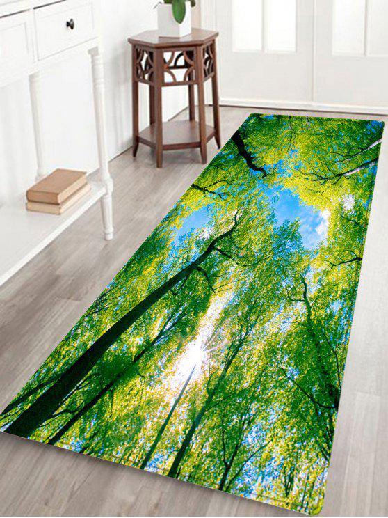 غابة السماء نمط امتصاص الماء البساط المنطقة - أخضر W24 بوصة * L71 بوصة