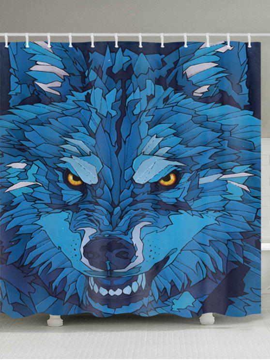 الكرتون الذئب نمط ماء الحمام دش الستار - Colormix W59 بوصة * L71 بوصة