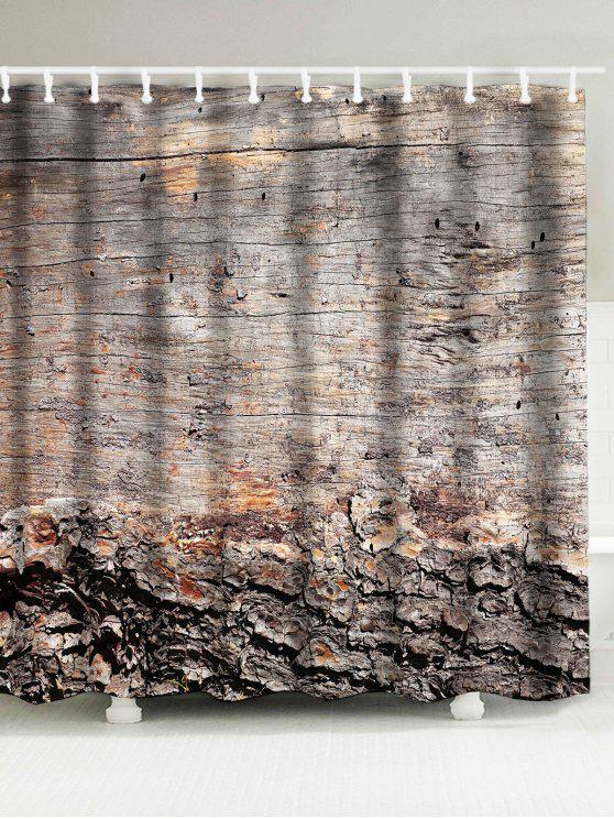 Vintage Waterproof Wood Grain Shower Curtain