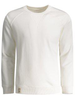 Mens Terry Pullover Sweatshirt - White Xl