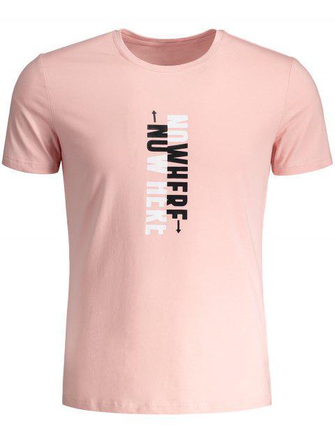 T-shirt Graphique Slogan Col Rond - Blanc XL Mobile