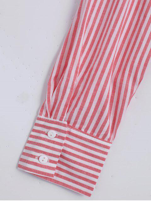fancy Loose Choker Stripes Shirt - STRIPE L Mobile