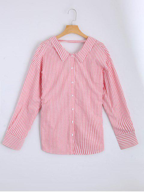 fancy Loose Choker Stripes Shirt - STRIPE L Mobile