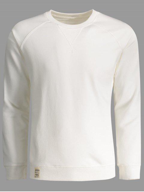 women's Mens Terry Pullover Sweatshirt - WHITE 3XL Mobile