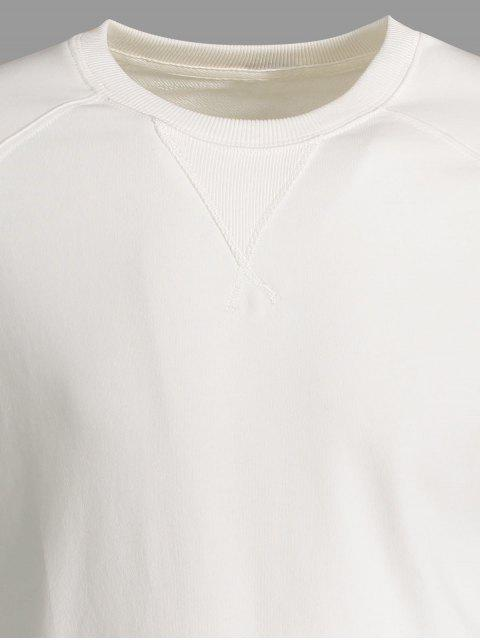 lady Mens Terry Pullover Sweatshirt - WHITE 2XL Mobile