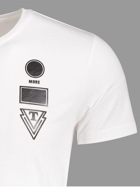 T-shirt à manches courtes à manches courtes pour hommes - Blanc XL Mobile